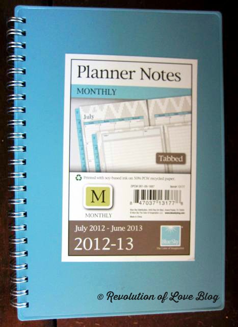 Revolution of Love Blog - planner_5W