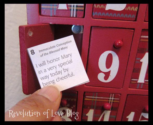 Calendar Ideas For Him : Keeping christ in christmas advent ideas