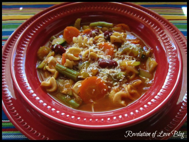 Revolution of Love Blog - minestrone soup