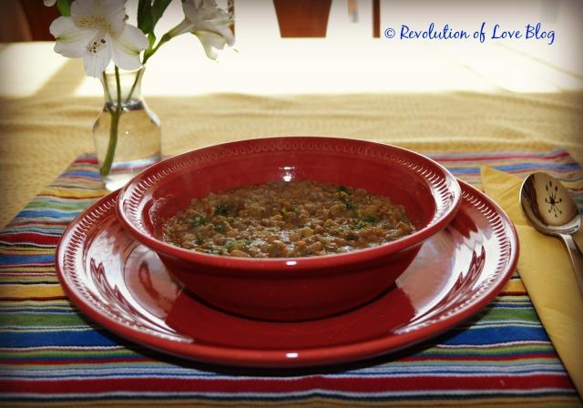 slow cooker lentil soup with kale