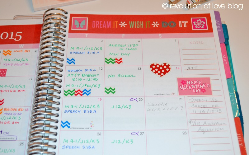 Revolution of Love Blog - planner_2015_k